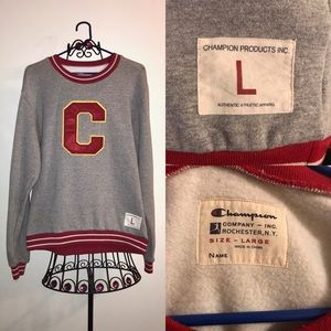 Champion letterman sweatshirt